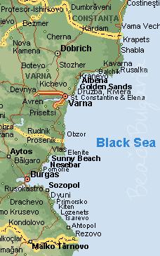 Karta Na Krajbrezhieto Na Cherno More V Blgariya Karta Na Morskite